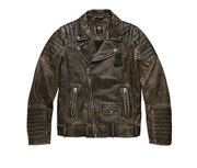レザーJKT/Distressed Leather BikerJacket