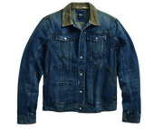 デニムJKT/CorduroyAccent Denim TruckerJacket