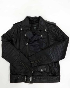 レザーJKT/ #1 Skull Patch Leather BikerJacket