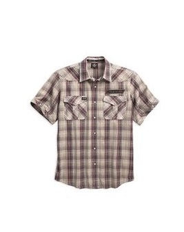 シャツS/S H-D® V-Twin Plaid Shirt