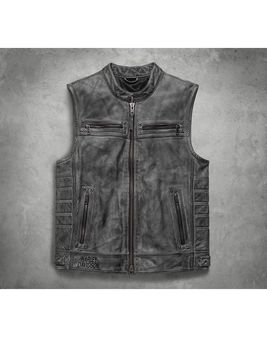 レザーベスト/Veer Distressed LeatherVest