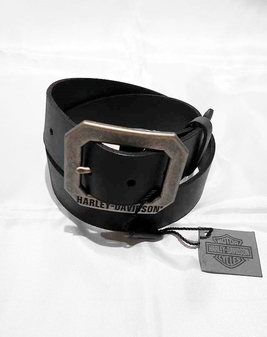 レザーベルト/  Lightning Bolt Leather Belt